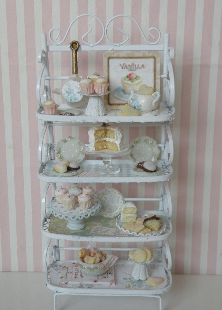 Miniature Bakers Rack Titled Sweet Heaven With Images