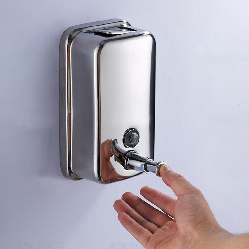 Bathroom Kitchen Stainless Steel Wall Mounted Lotion Pump Soap Shampoo Dispenser Hand Soap Dispenser Soap Dispenser Wall Bathroom Soap Dispenser