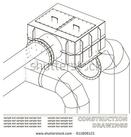 Drawings of structures pipes and pipe 3d blueprint of steel drawings of structures pipes and pipe 3d blueprint of steel structures white malvernweather Image collections