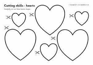Printable Fourth of July Scissor Skills Practice Worksheets