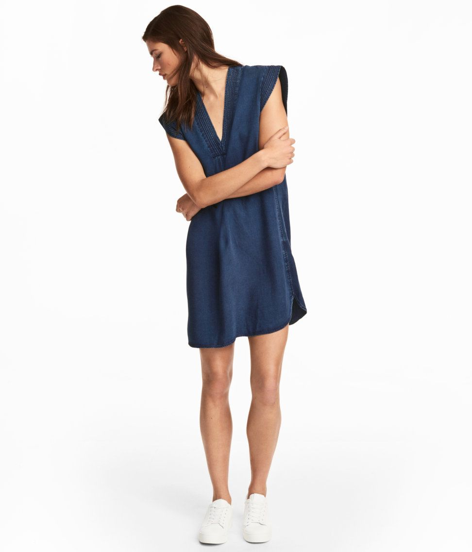 Check this out conscious kneelength dress in denim made from