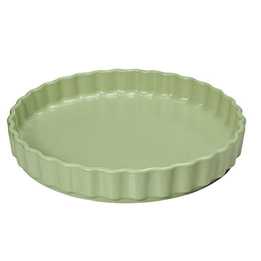 French Home 11-inch Sage Green Quiche Pan