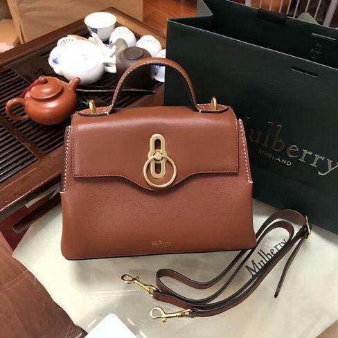 c741b2bb902 2018 S/S Mulberry Mini Seaton Bag in Tan Silky Calf Leather ...