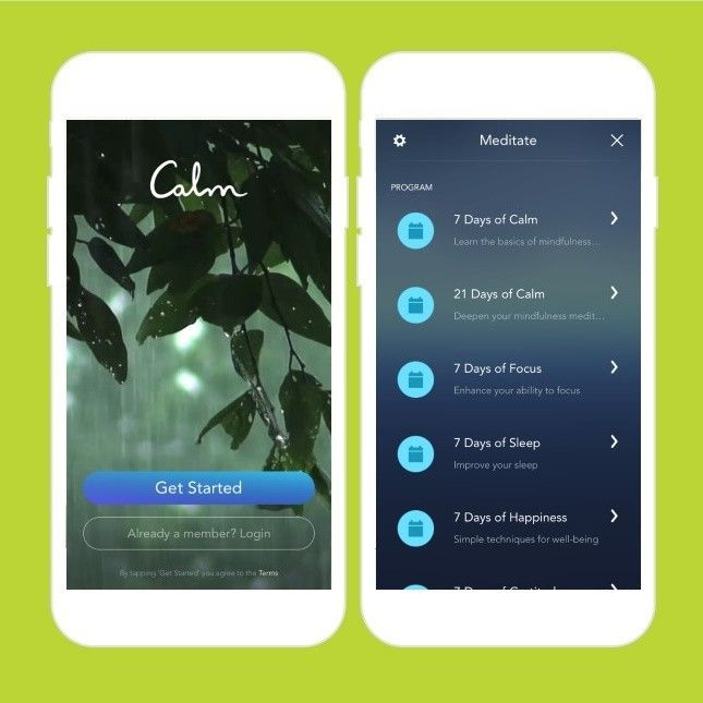 Relax with this meditation app. BLISS Meditation apps