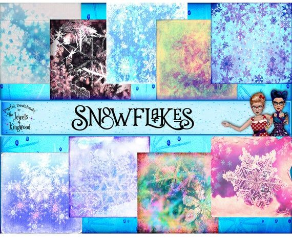 Snowflake Pattern Scrapbook Paper Snowflake Paper Pack Snowflake Christmas Winter Background 12×12 D
