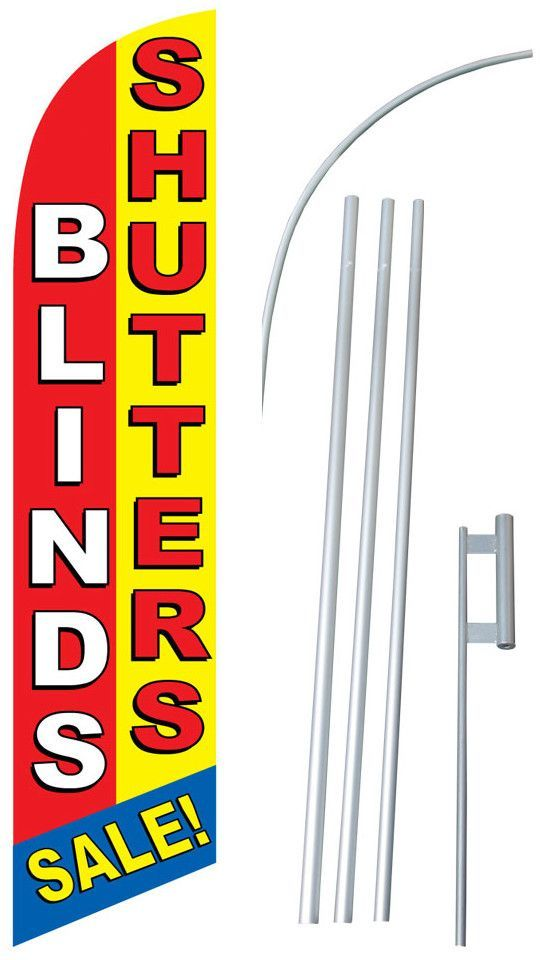 Blinds and Shutters Swooper Flag and Flagpole Set