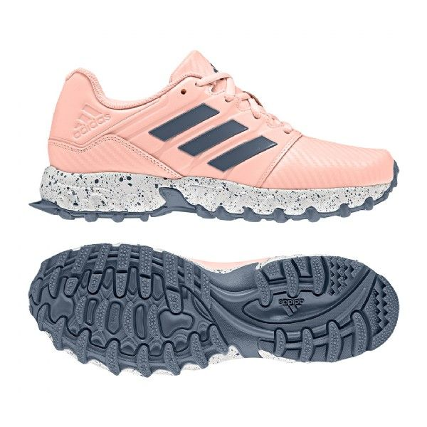 938871f35 Adidas Hockey Junior Hockey Shoes - Pink Grey image 3