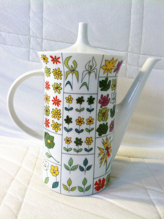 1960s Emilio Pucci Rosenthal coffee pot. EvelynandGeorge on Etsy