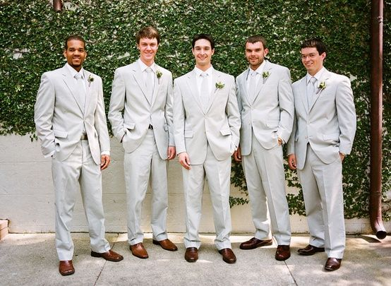 grooms men suits | groomsmen suits! : wedding brown shoes celadon ...