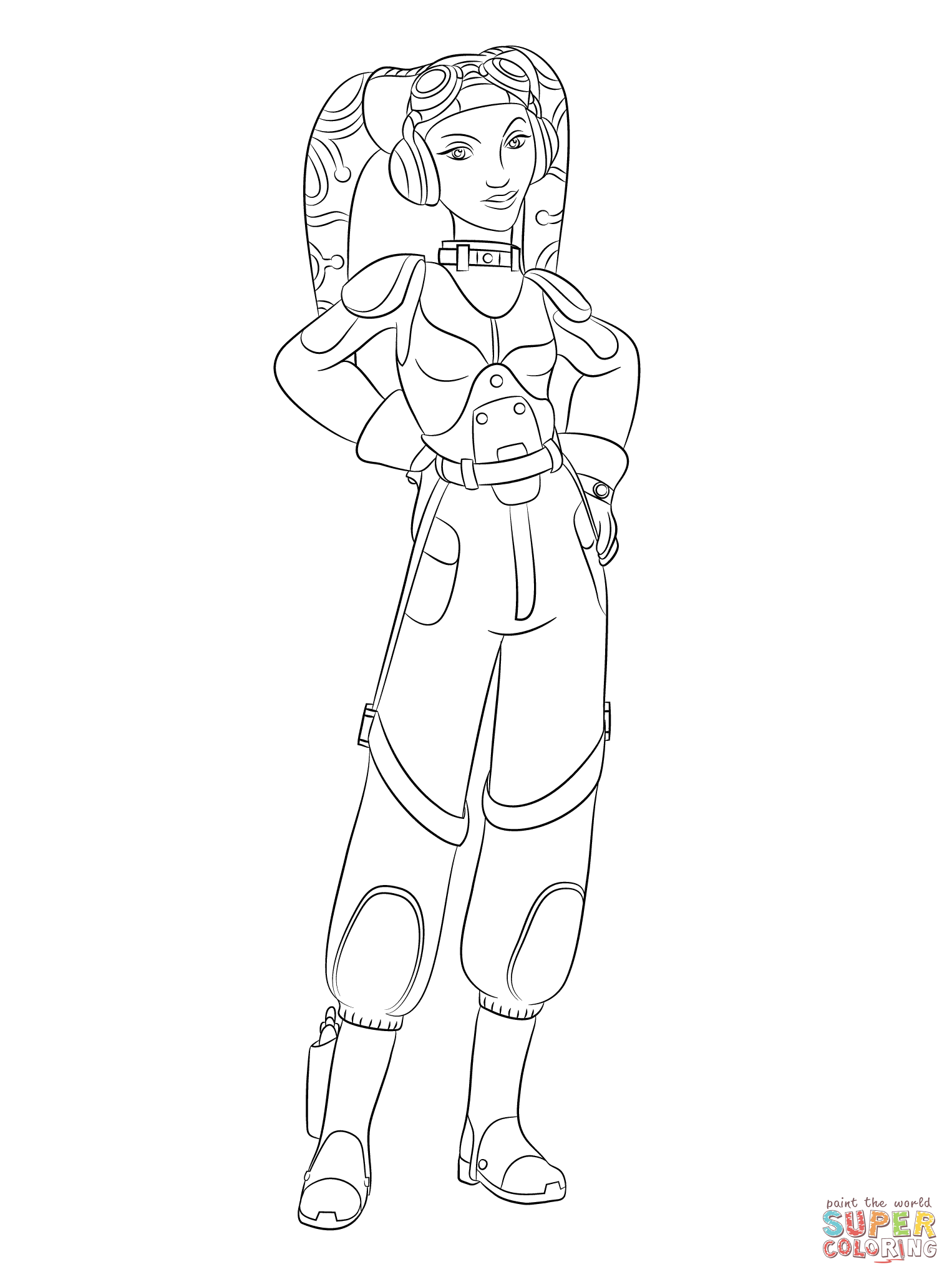 Star Wars Rebels Hera Syndulla Coloring Page From Category Select 27336 Printable Crafts Of Cartoons Nature Animals Bible And Many