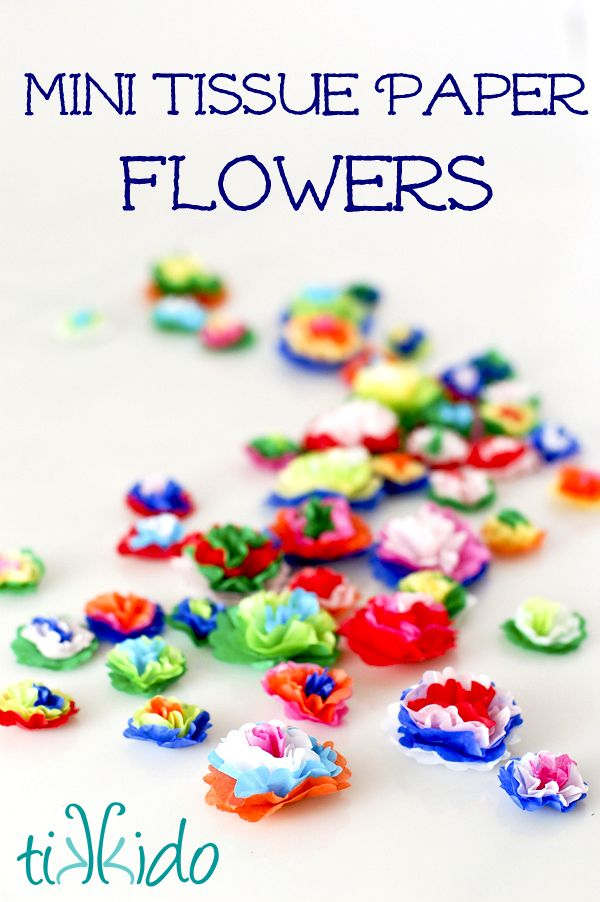 How To Make Mini Tissue Paper Flowers Birthday Mexican Paper