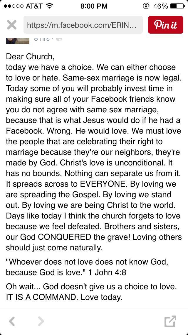 God loves us all. Choose to love