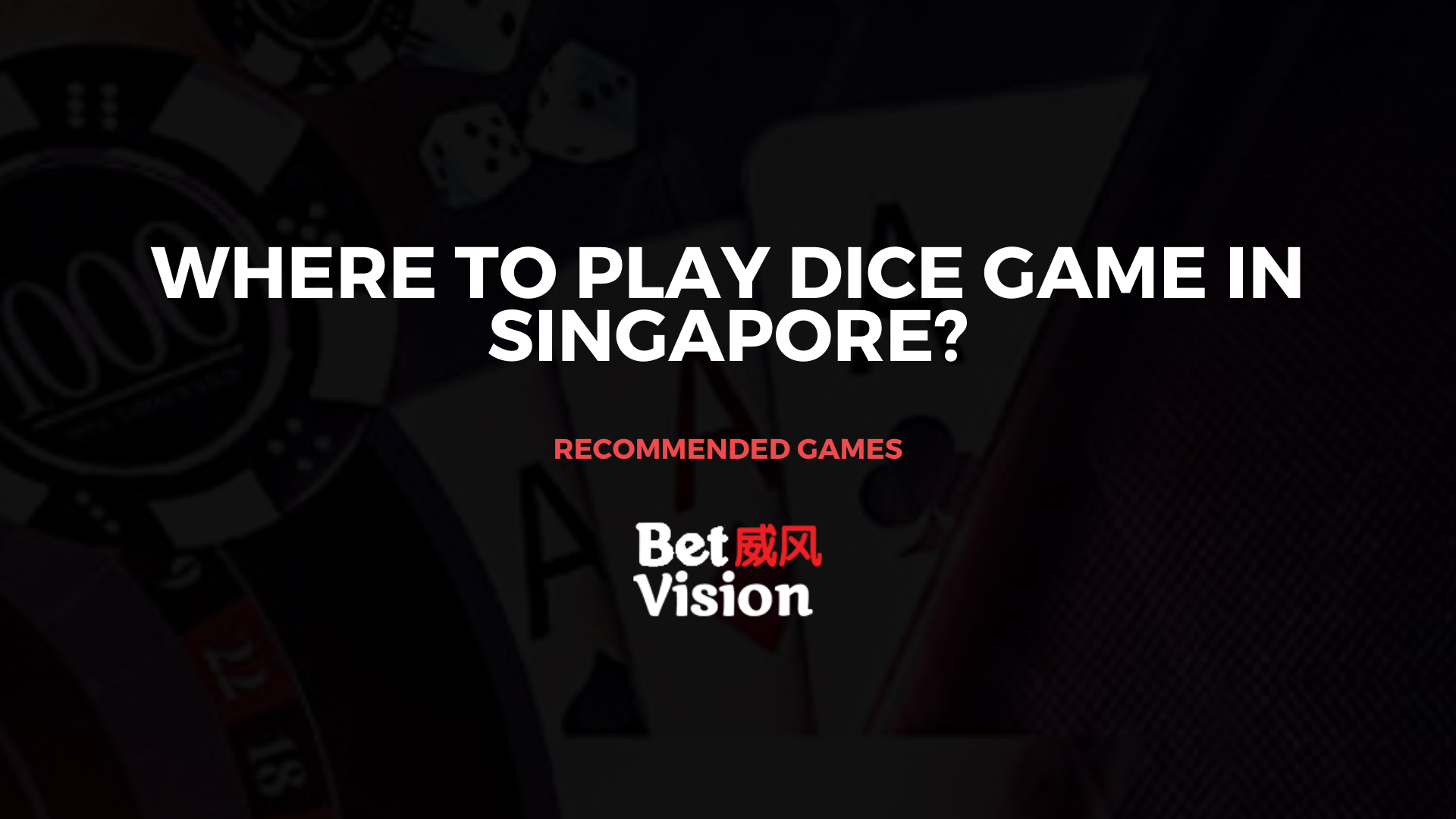Where To Play Dice Game In Singapore Recommended Games Dice Games Singapore Game Presents