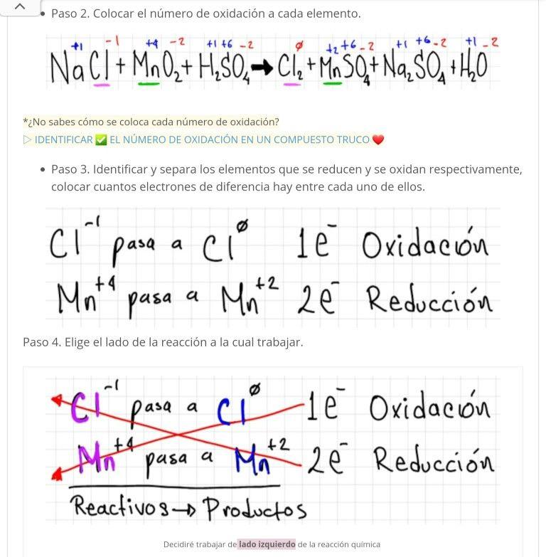 Ejercicios Resuelto Método Redox Reacciones Quimicas Ejercicios Resueltos Química