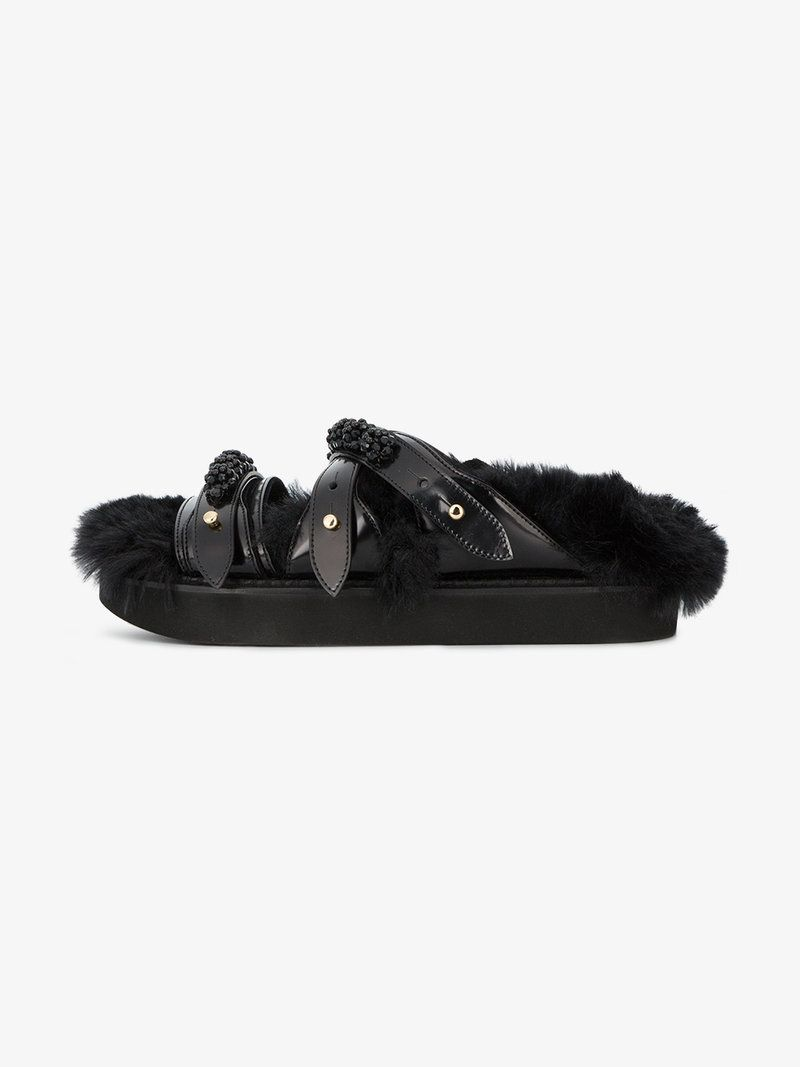 Simone Rocha Beaded Strappy Sandals ADX8x