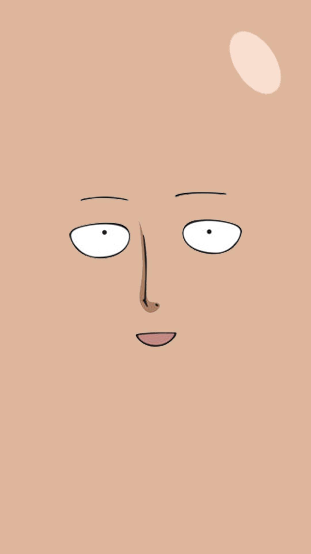 Saitama Face (iPhone 6) One punch man anime, Saitama one