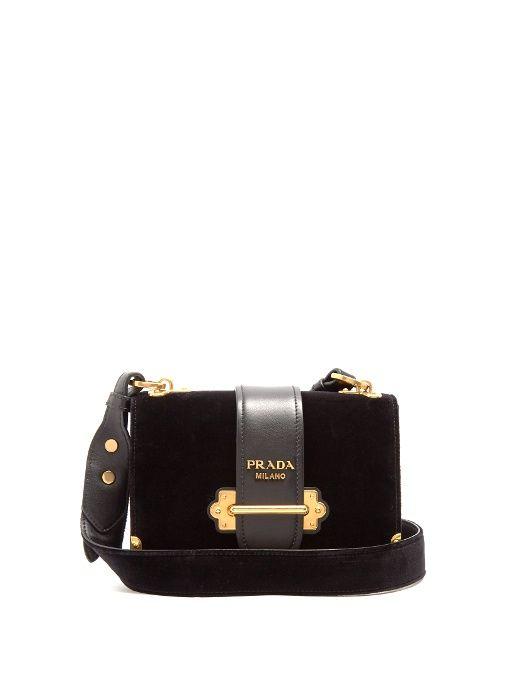 d598a4a2686f Beste Designer Taschen · Schultertaschen · PRADA Cahier Velvet Cross-Body  Bag.  prada  bags  shoulder bags