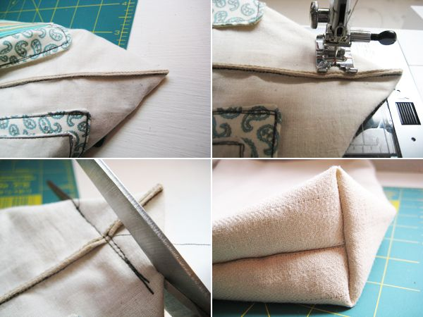Square Bag Tutorial : sewing pattern for square pillow  - pillowsntoast.com