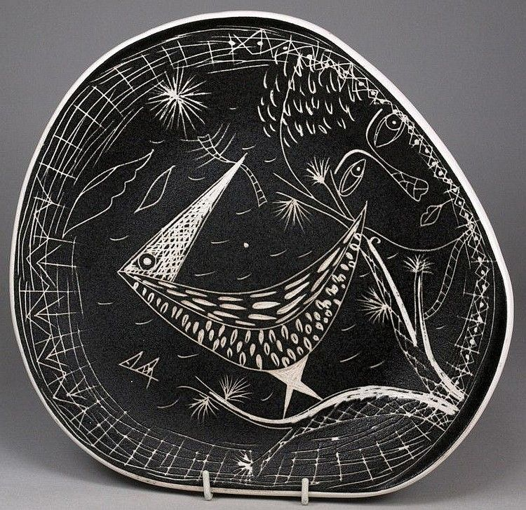 Tigo Ware Tibor Reich For Denby Pottery Wuzu Bird Dish