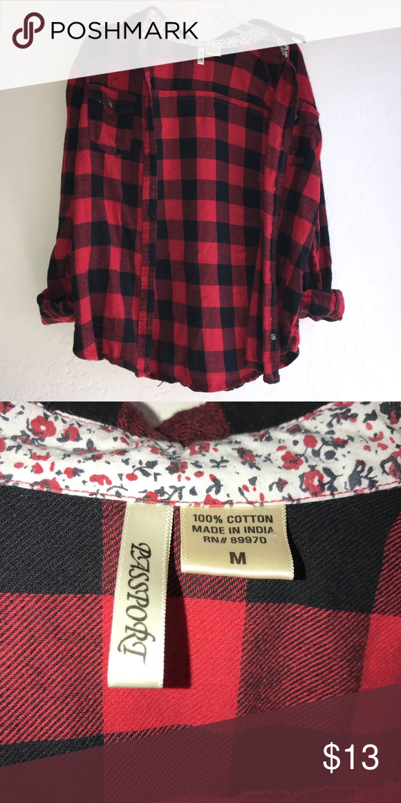 c9db066c44b Red and black flannel