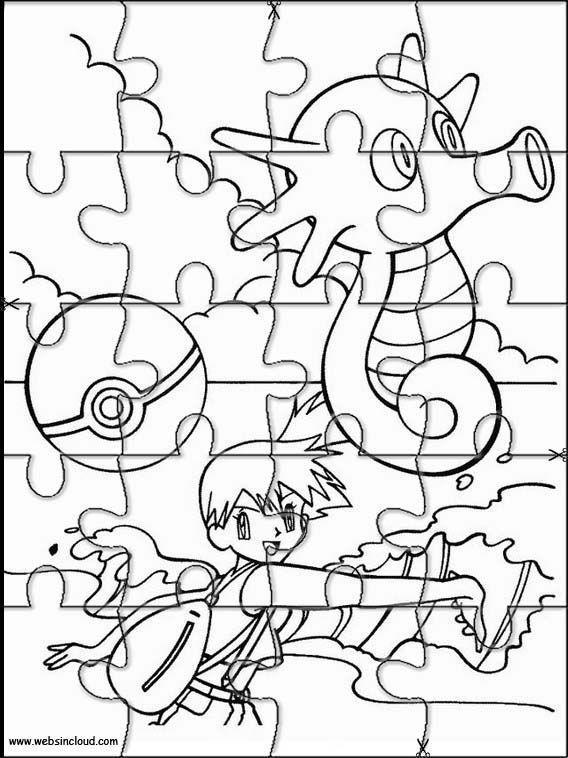 Puzzles Rompecabezas para imprimir para niños Pokemon 28