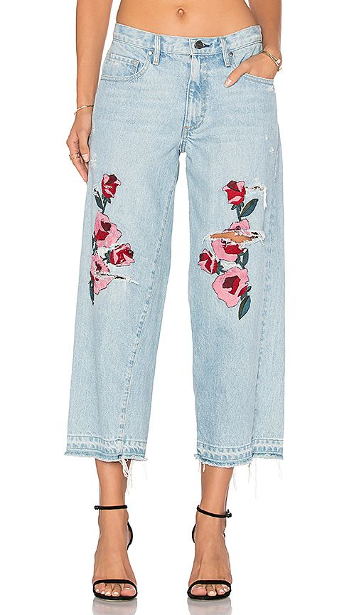 Embroidered Relaxed Crop