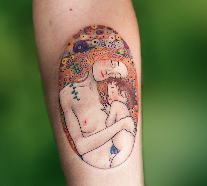 Gustav Klimt Inspires Tattoo Artists   Tattoo, Tatoo and Piercings