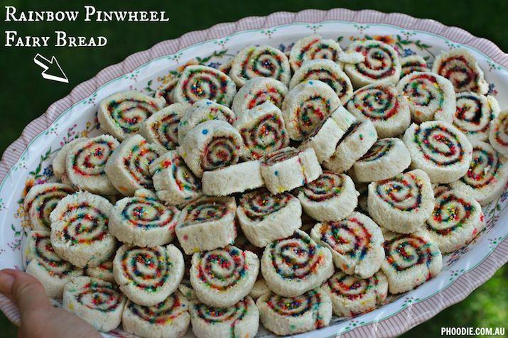 how to make fairy bread pinwheels