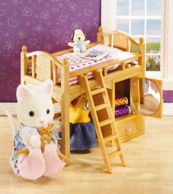 Calico Critters Sister S Loft Bed Loft Bed Bed Mattress Furniture