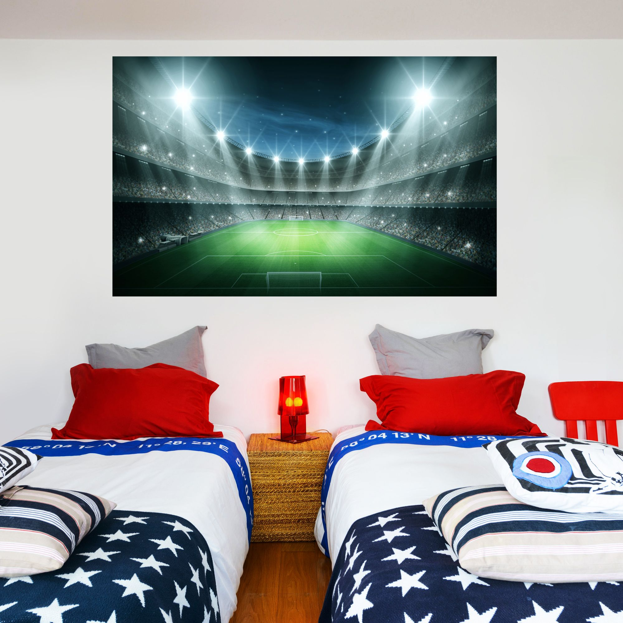 Bedroom Stadium Lights Wall Sticker Stickers Football Decorations Kids Sports Rugby Mural