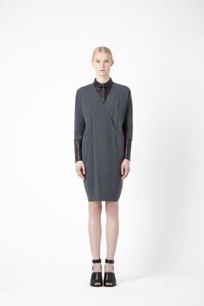 Overlap v-neck dress