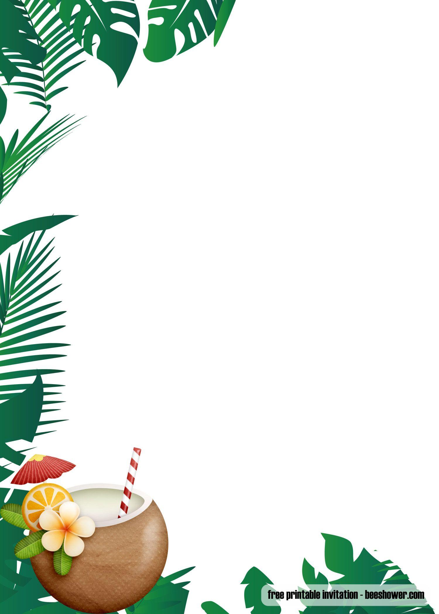 Free FREE Luau Baby Shower Invitations Templates  Luau party