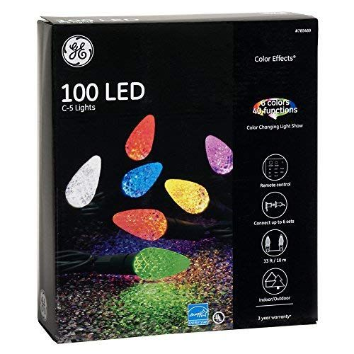 GE Color Effects 100-Count 33-ft Multi-Function Color Changing C5