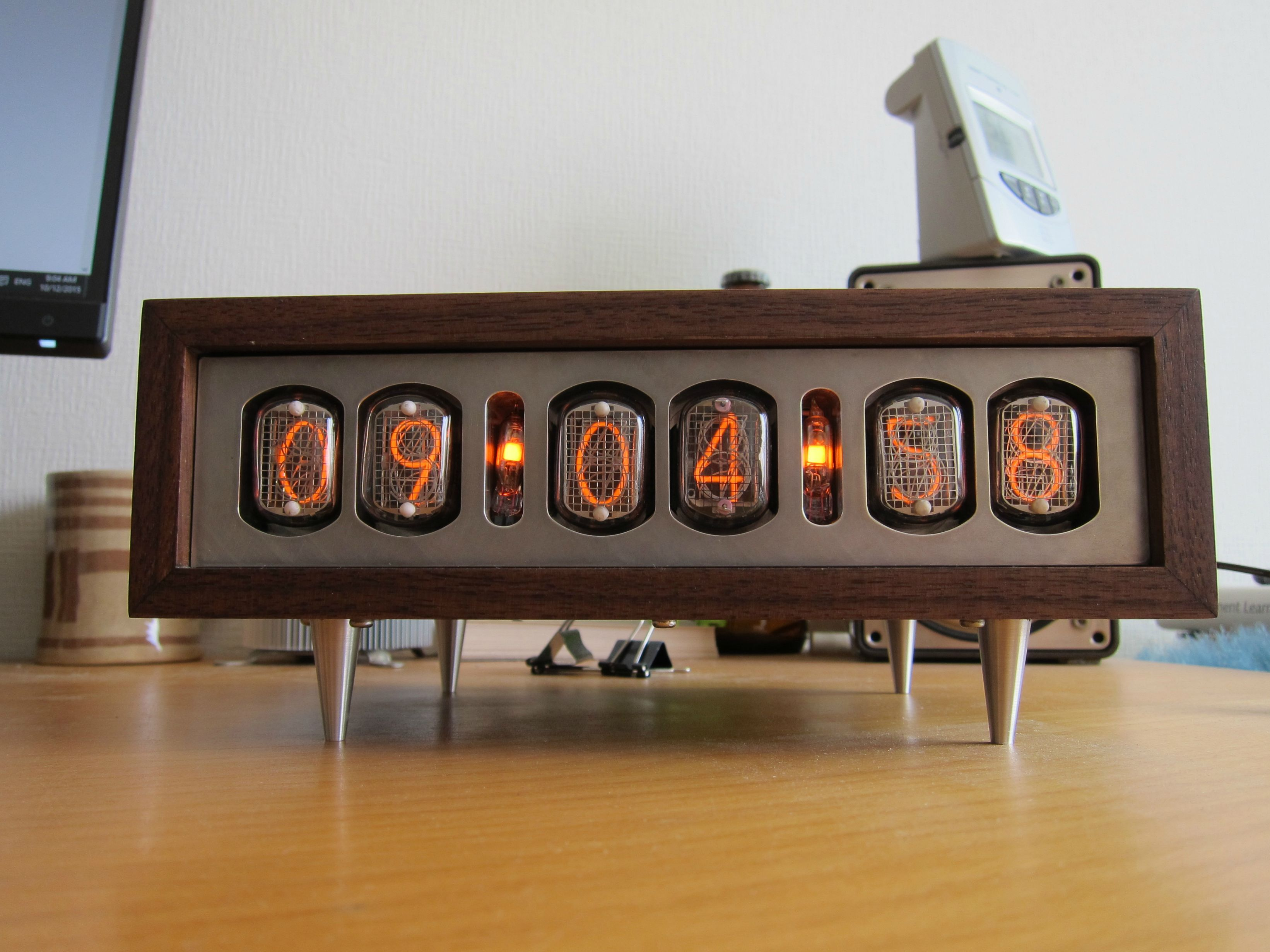 Hyperion nixie tube clock clocks and