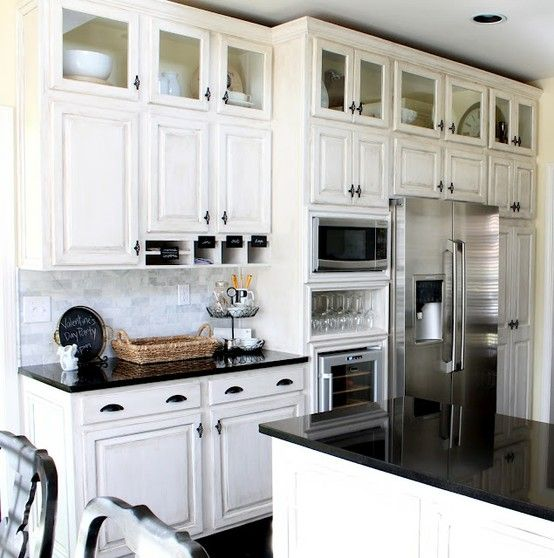 Space Above Kitchen Cabinets: Space Saver/great Look: Add A Row Of Glass Front Cabinets