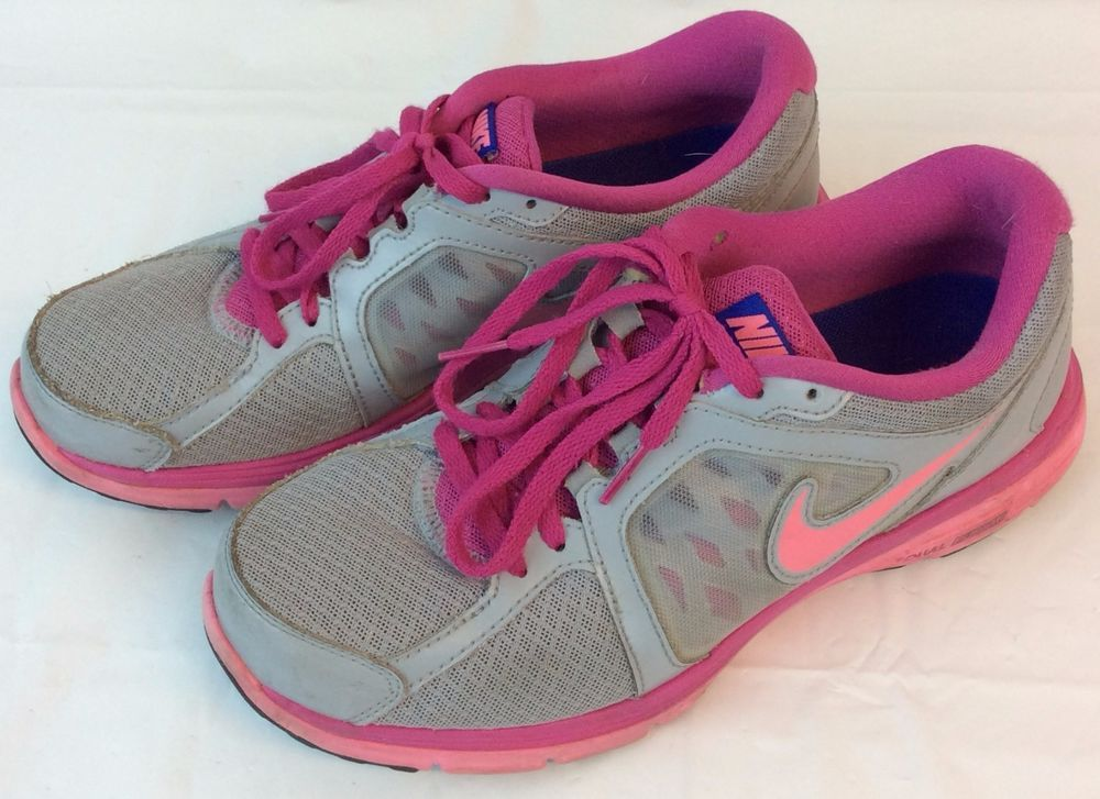 Nike Dual Fusion Sneakers Shoes 525752-015 Woman 8.5 Woman Silver Pink  Running #Nike