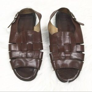 Bally Mens Modern Seiberling Brown 8 Sandals Shoes