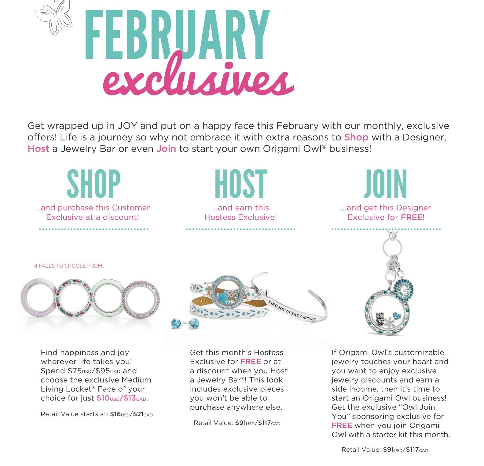 Origami owl feb 2017 exclusive offers take advantage while they last www