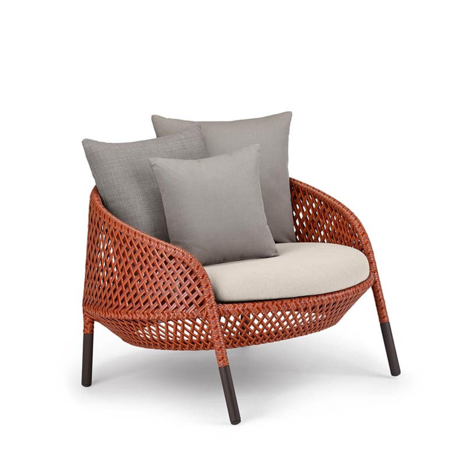 Dedon Ahnda Loungesessel Kunststoffgeflecht Lounge Sessel