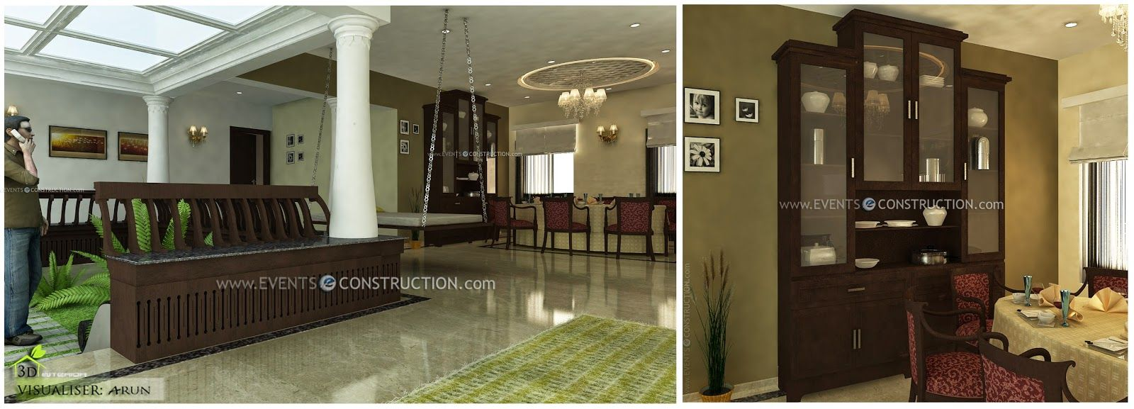 Modern kerala houses interior kerala house interior design for House interior design nagercoil