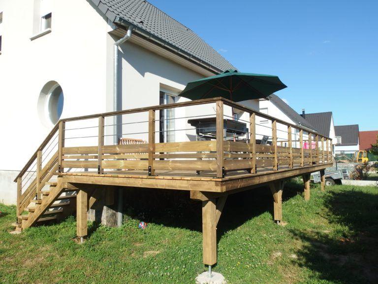 Terrasse Bois En Kit A Enchanteur Terrasse Sur Pilotis En Bois Idees Decoration Interieure Construire Une Pergola Terrasse Bois Terrasse Sur Pilotis