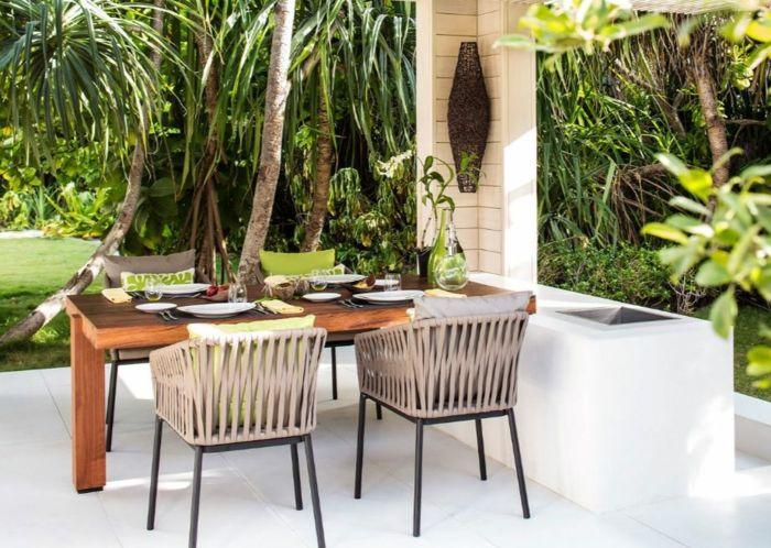 gartengestaltung ideen gartenideen essbereich sonneschutz - outdoor patio design ideen
