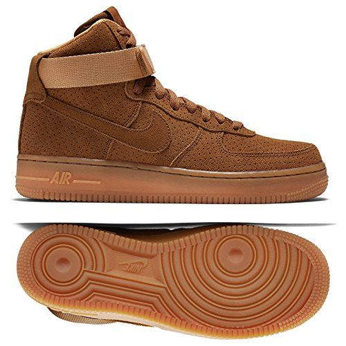75 07 Nike 749266201 Size Womens Air Tawnybrown Force Suede 1 High WHE9D2I