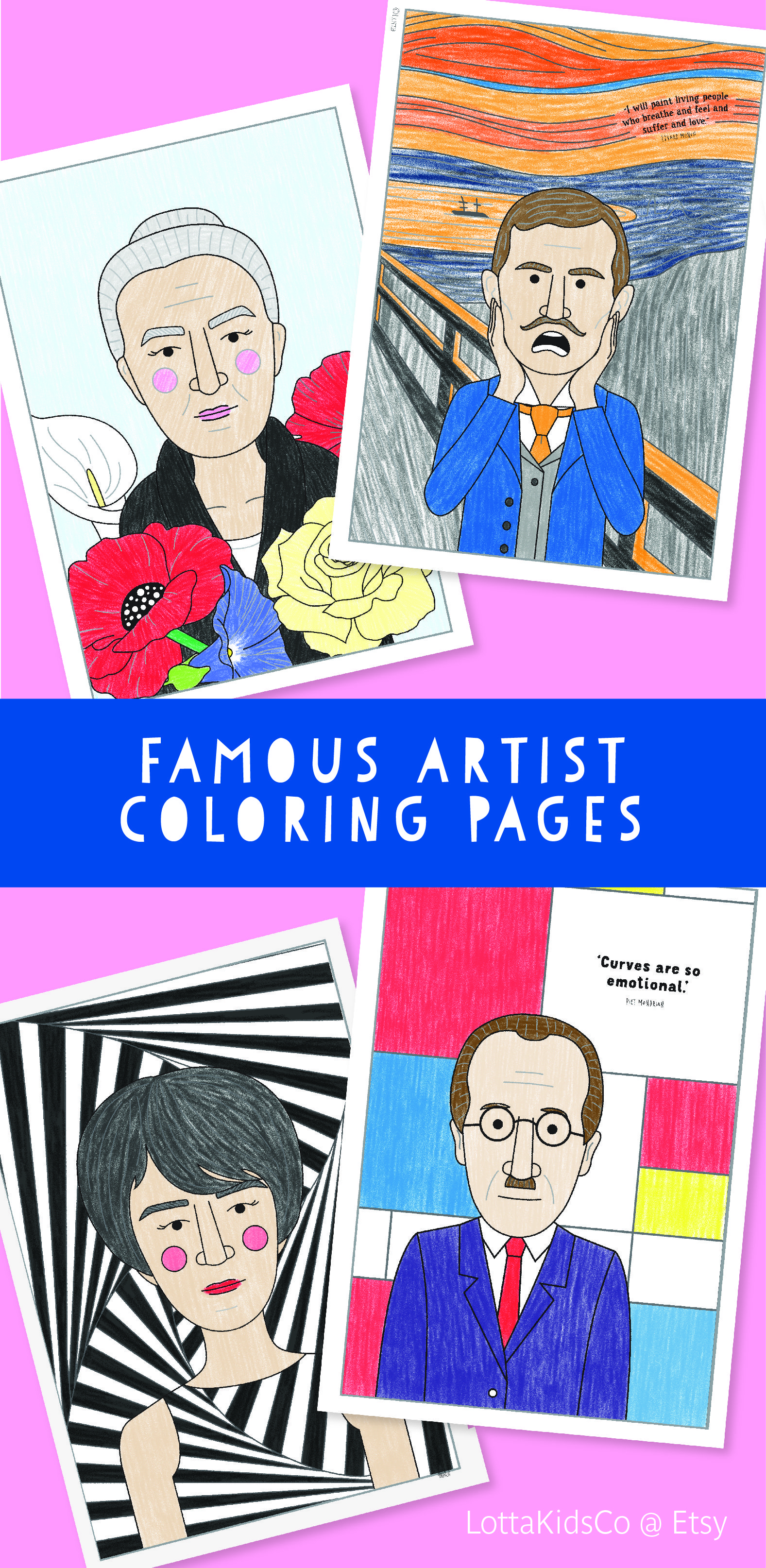 Have Some Famous Artist Fun With These 11 Printable