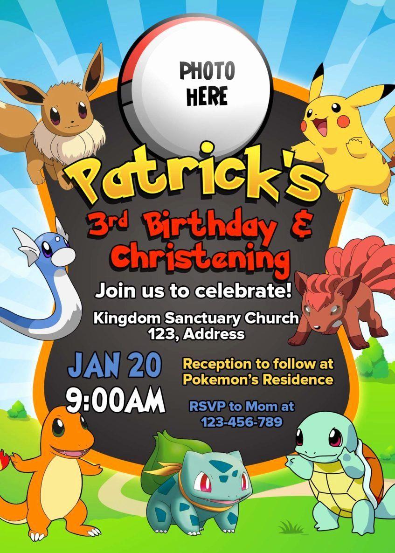 Free Printable Pokemon Birthday Invitation Templates Pokemon Invitations Pokemon Birthday Pokemon Birthday Invites