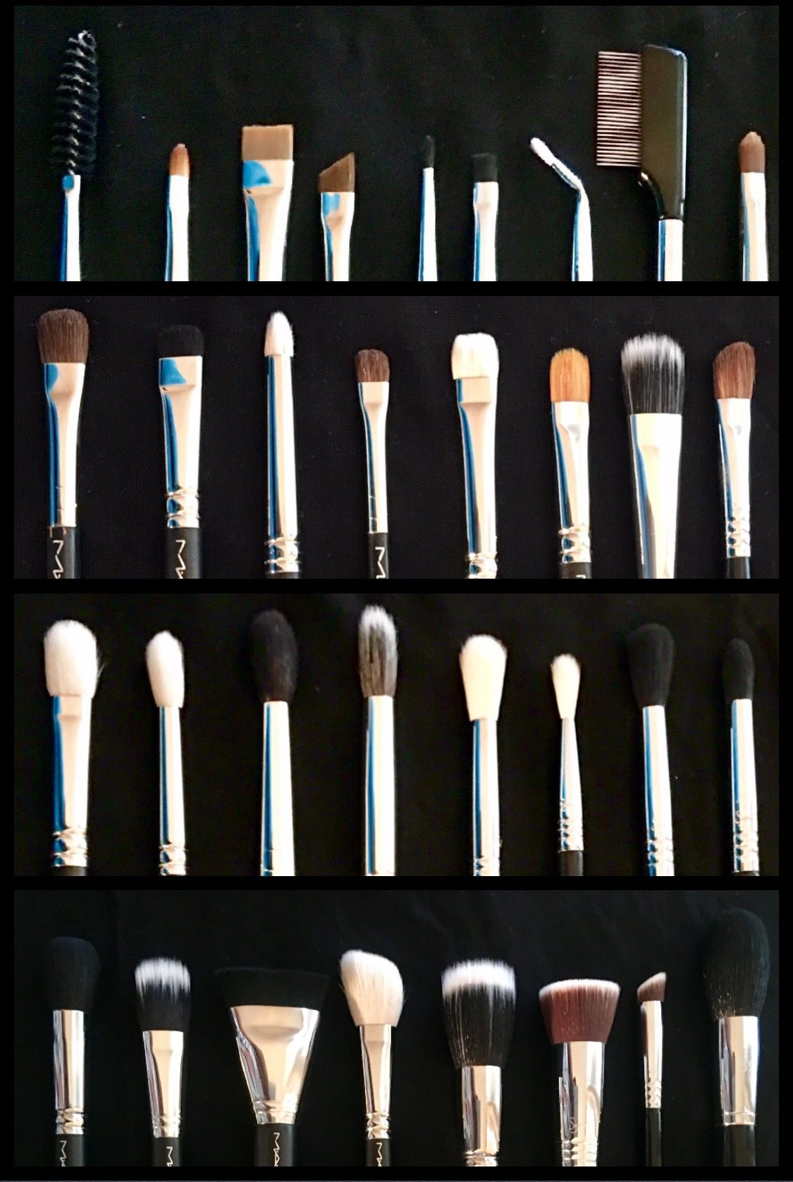 MAKEUP BRUSHES 1st Row EYELINERS/BROWS/LIP MAC 204, MAC