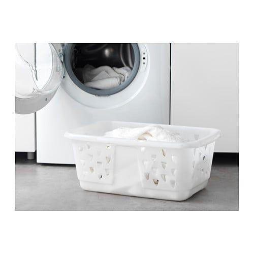 cojo complicaciones pérdida  BLASKA Mangelkorg, vit - IKEA   Cesta de tela, Ikea, Muebles de lavabo