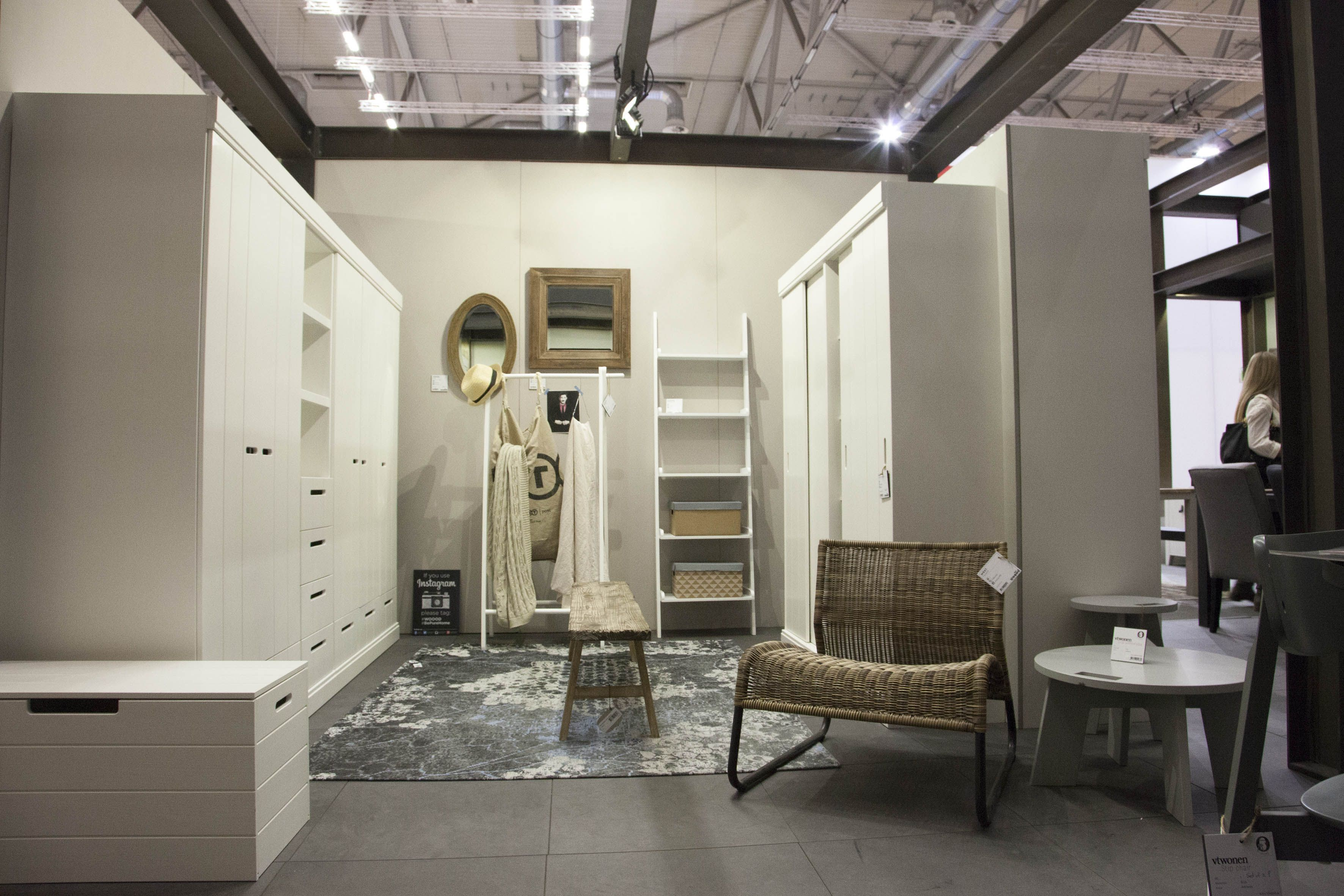 Cabinet CONNECT, Row, clothing rack Plunje, wall shelf Schoor - WOOOD. Kasten, armoires, Schränke. Kledingrek, penderie, Kleiderständer. #immcologne #imm2015