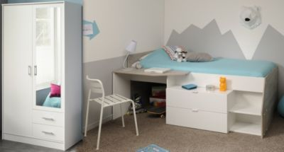 Etagenbett Bibop Parisot : Parisot bibop bunk bed inspirational paddington mid sleeper grey