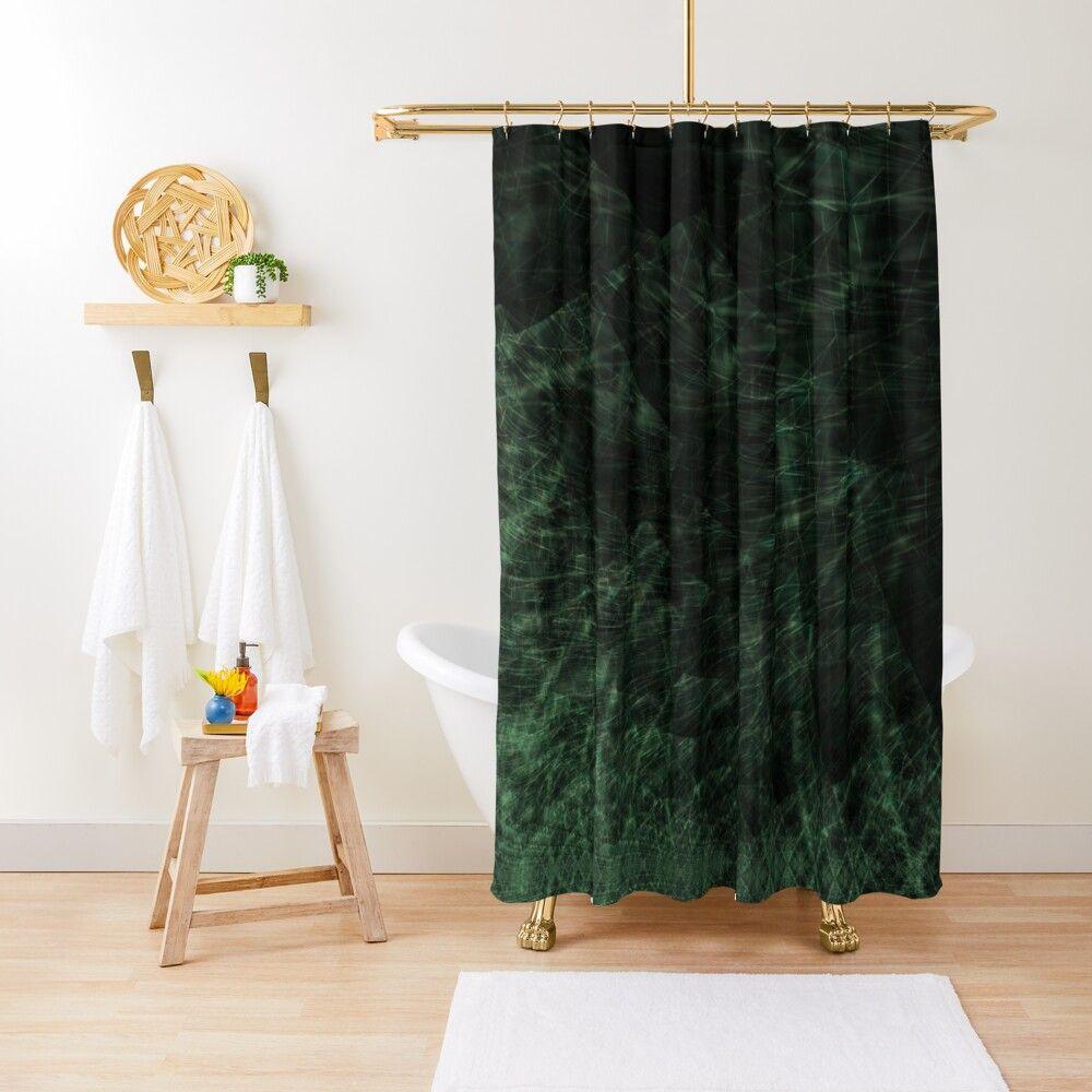 Grass Shower Curtain By Eric Pauker In 2020 Emerald Green Curtains Green Bathroom Decor Green Shower Curtains